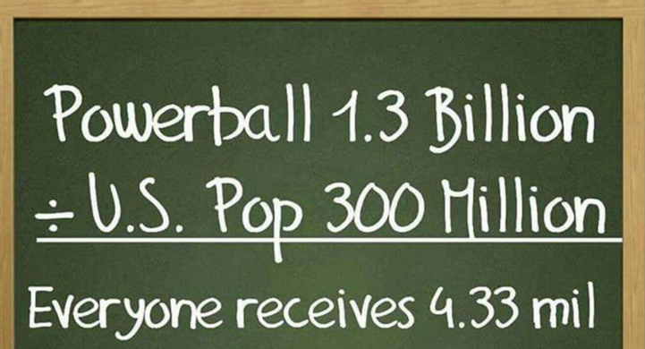 Powerball magic makes numbers change size!